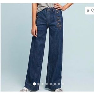Pilcro Anthropologie Petite Wide leg Jeans